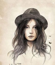 #girl #hat #painting # art
