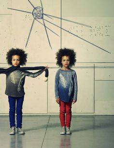 American Outfitters / AO, is a Belgian label for babies and children, with clothes and accessories for boys and girls. Trendy, high quality, everyday clothes that are practical and above all; American Outfitters, Afro Style, Natural Hairstyles For Kids, Kid Styles, Fashion Kids, Swagg, Beautiful Babies, Kids Wear, Cute Kids