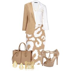 A fashion look from May 2014 featuring Donna Karan blouses, Vivienne Westwood Anglomania skirts and Jessica Simpson shoes. Browse and shop related looks.