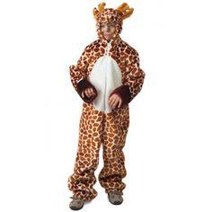 Pluche giraffe pak voor kinderen. Dit pluche giraffe pak met kop is voor jongens en meisjes. Het giraffe kostuum valt iets ruimer en is verkrijgbaar in verschillende kindermaten. Carnavalskleding 2015 #carnaval