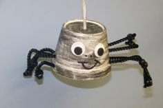 Styrofoam cup, black pipe cleaners, wiggly eyes...great /sp/ activity.