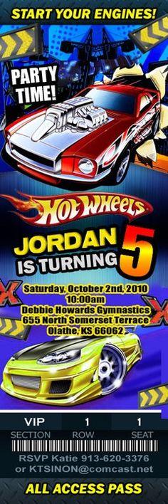 Race car birthday party invite