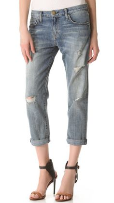 Current/Elliott The Boyfriend Cropped Jeans | SHOPBOP Save 20% with Code WEAREFAMILY13