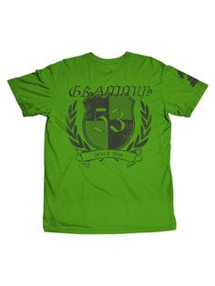 53rd Grammys - Shield Distressed Tee - Green