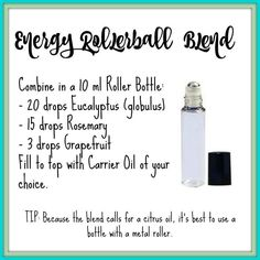 Oils For Animals Essential Oil Energy Roller Blend Recipe Essential Oils Energy, Essential Oil Uses, Doterra Essential Oils, Young Living Essential Oils, Roller Bottle Recipes, Aromatherapy Oils, Aromatherapy Recipes, Stress, Living Oils