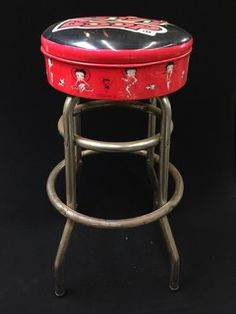 BETTY BOOP COUNTER STOOL. 30H X 15W