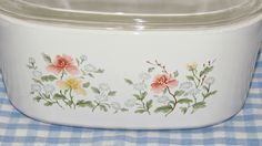 RARE Corning  'Autumn Meadow' 5L Covered Casserole, Imoco Direct Mail Order Only, 1984 & 1985, Ovenware Cookware, Serve and Store by GrammysGoodys on Etsy https://www.etsy.com/listing/223022070/rare-corning-autumn-meadow-5l-covered