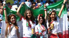 Iran fans cheer