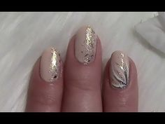 Einfaches Nude Nageldesign für kurze Nägel selber machen / Simple Nail Art Design for short nails - YouTube