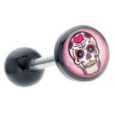 Multi-Color Acrylic Sugar Skull Logo Tongue Ring Barbell FreshTrends, http://www.amazon.com/dp/B007BR7RCO/ref=cm_sw_r_pi_dp_HkMbrb090GJPT