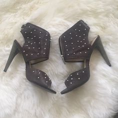 Velvet Angels Studded Heels Size 36. Lightly used, worn about 3 times. Brown leather with silver studs. Velvet Angels Shoes Heels