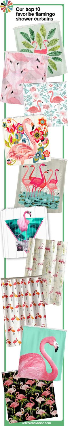 @RetroRenovation picked their top 10 favourite flamingo shower curtains.