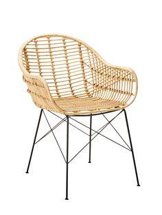 Décoration d'été : aménagez pour terrasse/balcon avec la chaise PAPAYA en rotin Naturel - BUT