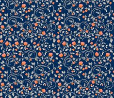 Midnight Florals fabric by veata_atticus_store on Spoonflower - custom fabric Atticus, Custom Fabric, Spoonflower, Florals, Gift Wrapping, Wallpaper, Store, Prints, Pattern