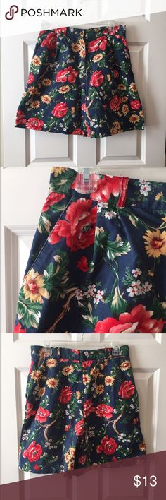 Talbots size 14 high waisted shorts Talbots size 14 women's high waisted floral shorts. Excellent used condition. Vintage and very colorful. Talbots Shorts