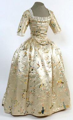 1760's Chinese silk dress