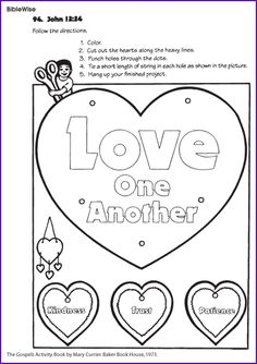 Love One Another (John 13:34) - Kids Korner - BibleWise : Hanging mobile / display