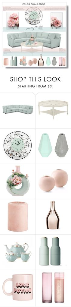 """Pastels"" by stranjakivana ❤ liked on Polyvore featuring interior, interiors, interior design, home, home decor, interior decorating, Korridor, Franz Collection, Pier 1 Imports and Incipit"