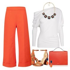 """""""Orange Crush"""" by vero-mrsb ❤ liked on Polyvore featuring Delpozo, Tom Ford, Marni, Sam Edelman and 1st & Gorgeous by Carolee"""