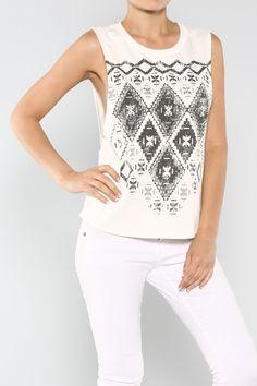 Aztec Print Top #wholesale #tees #shop #fashion #summer #ootd #wiwt
