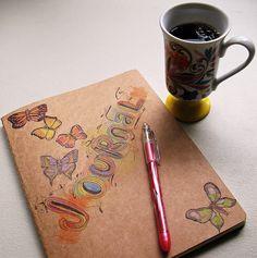 a morning of art journaling