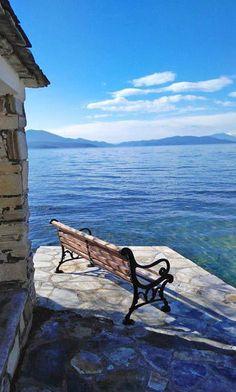 Greece Islands, Outdoor Furniture, Outdoor Decor, Bench, Park, Home Decor, Decoration Home, Room Decor, Parks