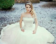 a bela noiva 2014 bridal strapless wedding dress