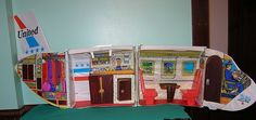 1972 Barbie Friend Ship Dollhouse United Airlines Fold Up Airplane