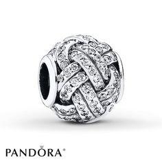79bfef9975ae PANDORA Charm Sparkling Love Knot Sterling Silver