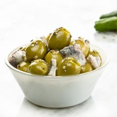 Olives with summer sailor dressing - tapas - Decoración Spanish Kitchen, Spanish Tapas, Olive Recipes, Cooking Ingredients, Finger Foods, Food To Make, Food Photography, Brunch, Food And Drink