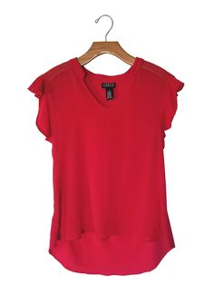 SOHO Apparel LTD. Red Sheer Top #stellasaksa #soho #apparel #red #sheer #tops