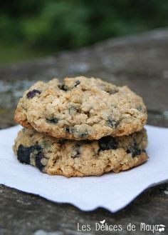 Je pense avoir fait ces biscuits au moins trois fois depuis que je les ai découverts chez Maripel . Ils sont vraiment excellents, sont s... Biscuit Cookies, Yummy Cookies, Blueberry Recipes, Cookie Desserts, I Love Food, Granola, Food To Make, Bakery, Sweet Treats