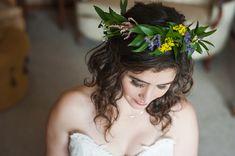 chicago farm weddings – elite photo – floral crown