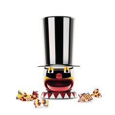 Pojemnik na słodycze Candyman z edycji limitowanej Officina Alessi Circus. Dostępny w przedsprzedaży na CzerwonaMaszyna.pl