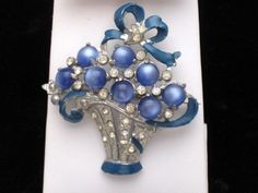 Coro - Moonstone Floral Basket\  http://stores.ebay.com/atouchofrosevintagejewels