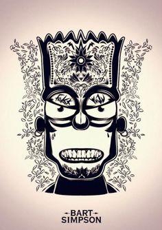 Ilustración Bart Simpson