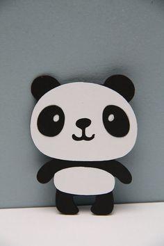 Panda Bear Die CutSet of 8 by CraftingCrew on Etsy, $4.00: