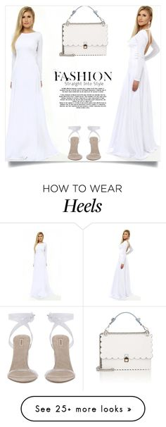 Designer Clothes, Shoes & Bags for Women Fendi Dress, How To Wear Heels, One Shoulder Wedding Dress, Jumpsuit, Wedding Dresses, Polyvore, Handmade, Outfits, Collection