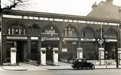 Belsize Park Tube station, 1936: designed by Leslie Green, the station's ox-blood facades were intended to give the transport system a consistent corporate image.