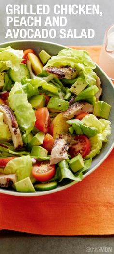 If you're getting bored with your regular salads, it's time to give this chicken and peach perfection a try!