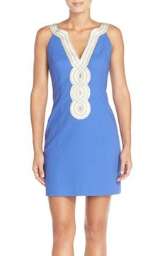 Lilly Pulitzer® 'Valli' Soutache Jacquard Sheath Dress available at #Nordstrom