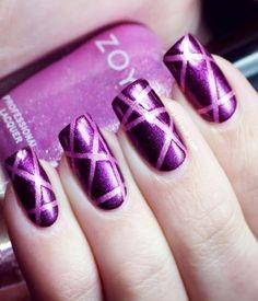 70 Ideas para pintar o decorar uñas color Púrpura – Purple nails | Decoración de Uñas - Manicura y NailArt