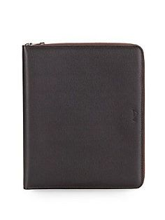 Brioni Leather iPad Case - Brown - Size No Size