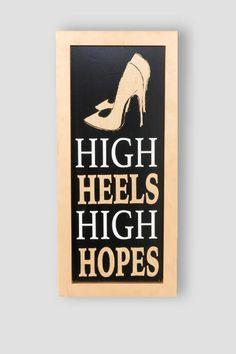 Gold Glitter High Heels High Hopes Wall Decor $28.00