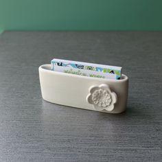 Pottery card holder