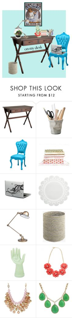 """On My Desk"" by tibitira ❤ liked on Polyvore featuring interior, interiors, interior design, home, home decor, interior decorating, Pier 1 Imports, ESSEY, WALL and Jieldé"