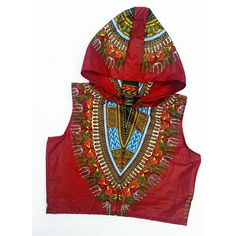 Mena Mode Ankara Sleeveless Crop Hoodie in African Fabric Street Style ($37) ❤ liked on Polyvore featuring tops, hoodies, hooded sweatshirt, sleeveless tops, crop top, sweatshirt hoodies and cropped hoodie