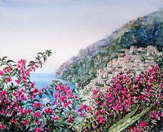 'Positano Italy' - http://irina-sztukowski.artistwebsites.com/featured/positano-italy-irina-sztukowski.html