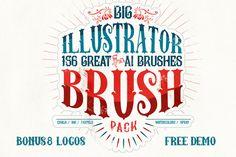 Check out 156 Illustrator Brush Pack + Bonus by Leonard Posavec on Creative Market
