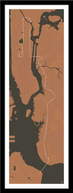 Fingers still crossed for for NYC Marathon in November 2014; Staten Island, Brooklyn, Queens, Manhattan, Bronx, and back to Manhattan for the finish. Maps by Cartografika on Etsy